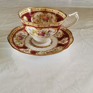 Royal Albert Lady Hamilton Footed Teacup & Saucer